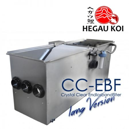 CC - EBF 500S-Langversion I Crystal Clear Endlosbandfilter Lang-Schwerkraftversion